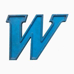 Lettre Vintage en Métal Bleu