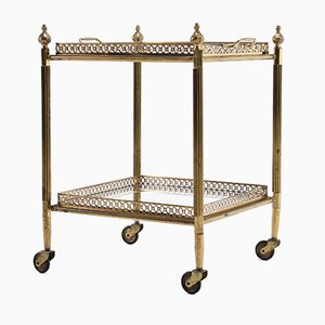 French Brass and Glass Trolley from Maison Baguès, 1960s
