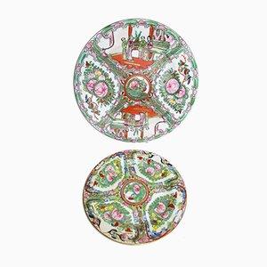 Plats Antiques en Porcelaine, Set de 2