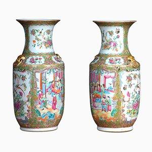 Chinesische Vasen, 19. Jh., 2er Set