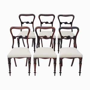 Chaises de Salle à Manger Victoriennes Antiques en Palissandre, Set de 6