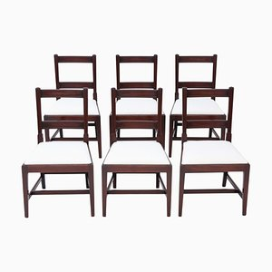 Antique Georgian Mahogany Dining Chairs, Set of 6