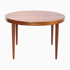Danish Teak Round Dining Table by Kai Kristiansen for SVA Møbler, 1960s