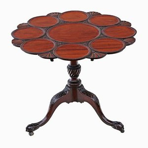 Antique Mahogany Tilt Top Serving Table