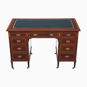 Antique Victorian Inlaid Mahogany Twin Pedestal Desk from JAS Schoolbred
