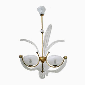 Art Deco Ceiling Lamp by Ercole Barovier for Barovier & Toso, 1940s