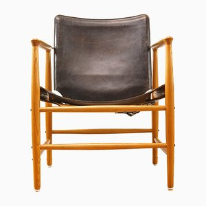 Mid-Century Safari Armchair by Kai Lyngfeldt Larsen for Bovirke