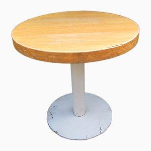 Table de Bar en Chêne et en Métal, années 80
