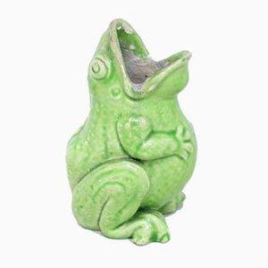 Jarrón con forma de rana de Sarreguemines, años 50