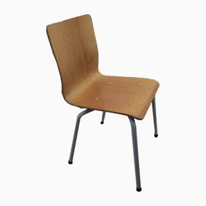 Stacking Oak Side Chair, 1980s