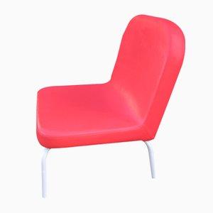 Roter Vintage Esszimmerstuhl aus Kunstleder, 1980er