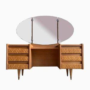 Vintage Rattan Dressing Table