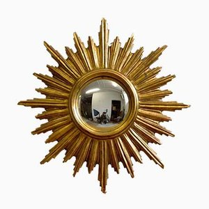 Mid-Century Belgian Sunburst Mirror, 1950s