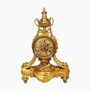 Antike Louis XVI Uhr aus Vergoldeter Bronze von G. Philippe Palais Royal