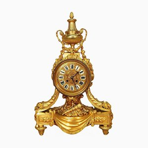 Antique Louis XVI Gilt Bronze Clock from G. Philippe Palais Royal