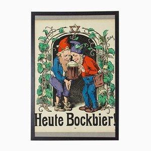 Antique Heute Bockbier Poster