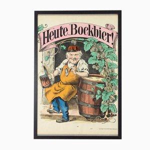 Affiche Heute Bockbier Ancienne