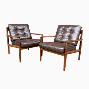 Lounge Chairs by Grete Jalk, 1950s, Set of 2