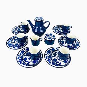 German Cobalt Blue Breakfast Service Set by Lilo Kantner for Melitta, 1960s