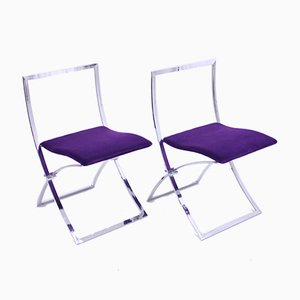 Folding Chairs by Marcello Cuneo for Mobel Italia, 1970s, Set of 2