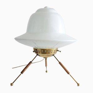 Lámpara de mesa francesa Mid-Century de latón