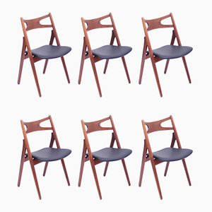 CH-29 Dining Chairs by Hans J. Wegner for Carl Hansen & Søn, 1950s, Set of 6