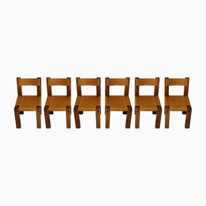 Dining Chairs by Pierre Chapo for Chapo, 1970s, Set of 6