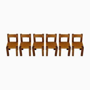 Esszimmerstühle von Pierre Chapo für Chapo, 1970er, 6er Set
