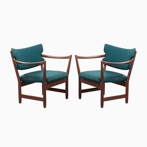Armchairs by Fredrik A. Kayser for Dokka Møbler, 1950s, Set of 2