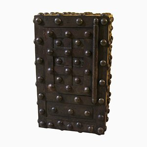 19th Century French Wrought Iron Studded Safe