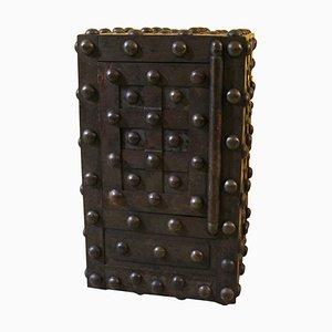 Caja fuerte francesa de hierro forjado, siglo XIX