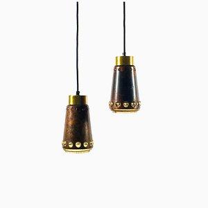 Deckenlampen aus Kupfer von Nanny Still für Raak, 1960er, 2er Set