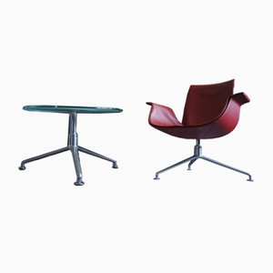 Model 6727 Tulip Armchair and Table Set by Preben Fabricius & Jørgen Kastholm for Walter Knoll / Wilhelm Knoll, 2000s
