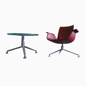 Sedia e tavolo nr. 6727 Tulip di Preben Fabricius & Jørgen Kastholm per Walter Knoll / Wilhelm Knoll, inizio XXI secolo