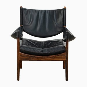 Rosewood Modus Lounge Chair by Kristian Vedel for Søren Willadsen Møbelfabrik, 1960s
