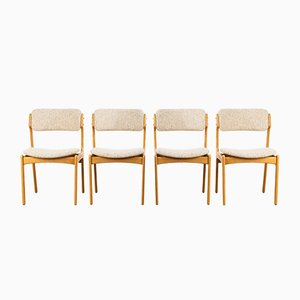 Chaises de Salle à Manger Modèle 49 par Erik Buch pour Oddense Maskinsnedkeri / OD Møbler, années 60, Set de 4