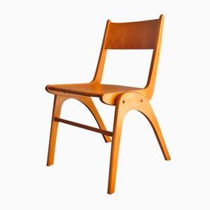 Vintage Dutch Birch Dining Chair, 1950s