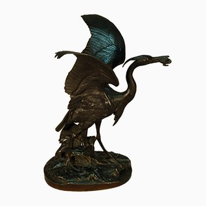 Antique Bronze Sculpture by Alfred Jacquemard