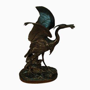 Escultura antigua de bronce de Alfred Jacquemard