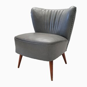 Mid-Century Gray Cocktail Chair, 1950s