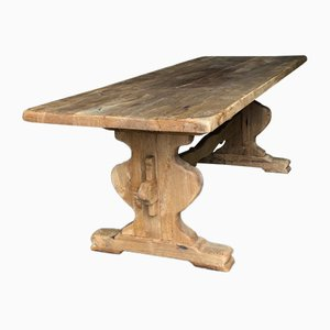 Antique French Rustic Oak Dining Table