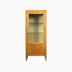 Art Deco Birch Display Cabinet, 1930s