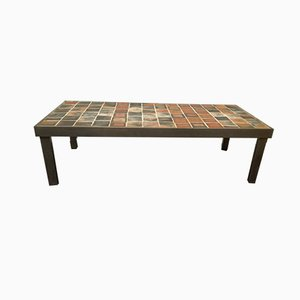 Mid-Century Ceramic Coffee Table by Roger Capron, 1950s