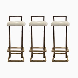 Bar Stools from Maison Jansen, 1970s, Set of 4