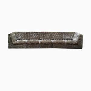 Sofá modular bordado, años 60. Juego de 6