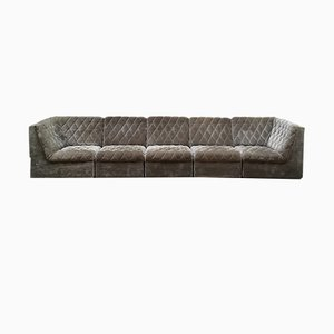 Stitched Modular Sofa, 1960s, Set of 6