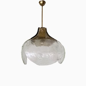 Glass Floral Pendant Lamp by Carlo Nason for Mazzega, 1960s