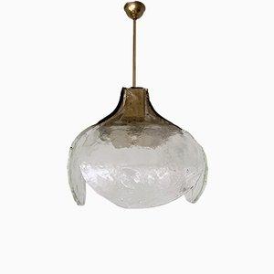 Lampe à Suspension Florale en Verre par Carlo Nason pour Mazzega, années 60