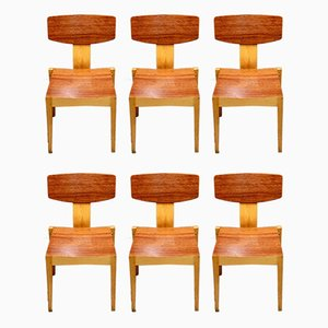 Teak & Maple Dining Chairs by Godtfred H. Petersen, 1950s, Set of 6