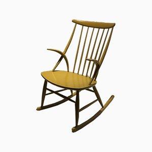 Rocking-chair Vintage par Illum Wikkelsø pour Niels Eilersen, Danemark, années 60